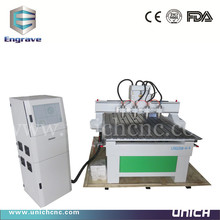 reduction sale cnc wood carving machine/multi spindle 3d cnc router/cnc machine for sale