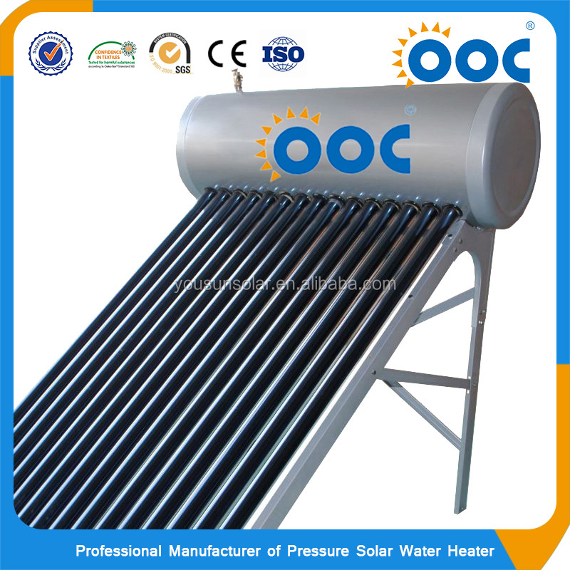 Pressure Copper Coils Integrative Pressured Inclined Roof Small Industrial Solar Tank Water Storage Heater Prices