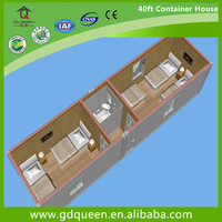 40ft container house with two bedroom and one toilet