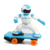 Funny 2.4g remote control rc robot skateboard toy for kids
