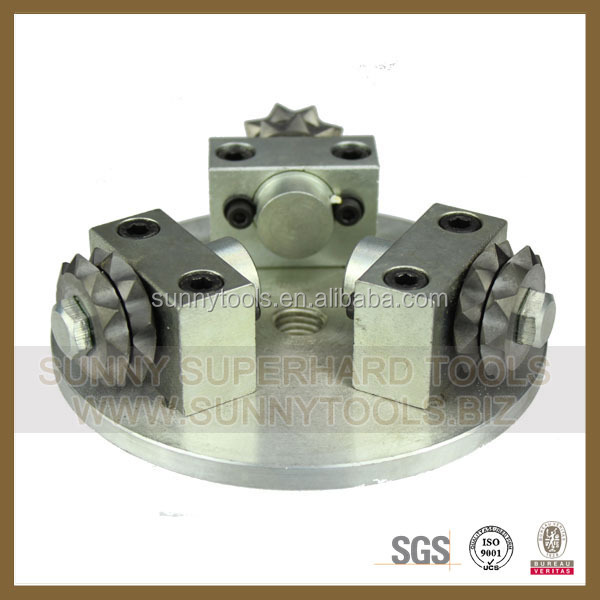 High quality 8 Rollers,45 Spikers block diamond bush hammer