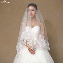 LZP056 1.5 Meter One Layer Off White Sequin Bridal Veil