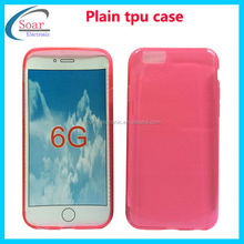 colorful Soft jelly TPU case cover for iPhone 6 4.7 inch