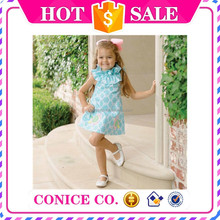2015 lastest design kids birthday evening dresses for girls of 10 years old