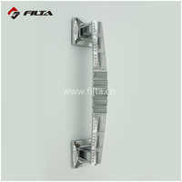 diamond chrome door hardware accessories zinc modern door crystal pull handle