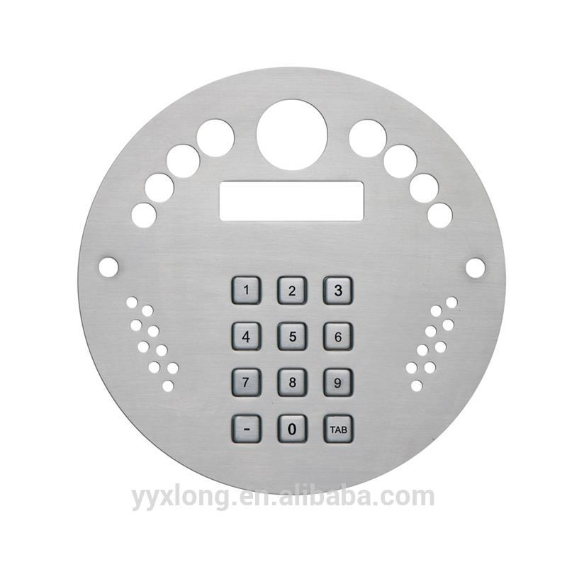 New design fire alarm system wired video door phone with keypad military keyboard with integrated keypad