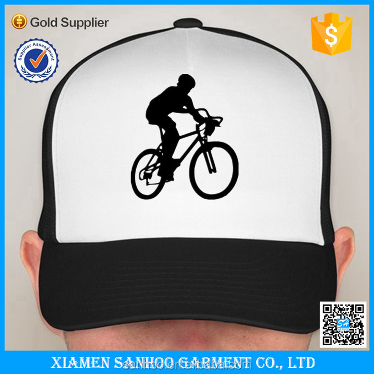 Wholesale Custom Printed 2016 Black White blank Foam Mesh Trucker Cap