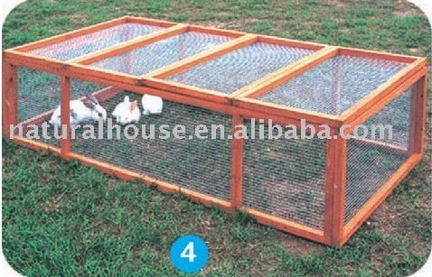 Item no.RR-4 large run wooden rabbit hutch