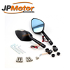 JPMotor - Universal Anti-glare Convex CNC Motorcycle Rear View Mirror With Integrated Turn Signals