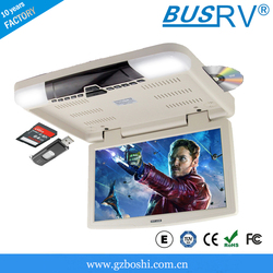 15.6 inch hot sale hdmi flip down roof mounted car/bus dvd player with digital screen in stock