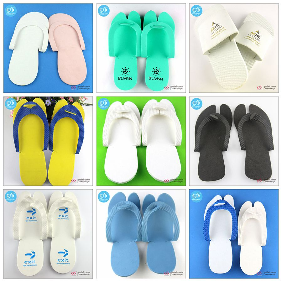 High quality custom washable disposable hotel slippers