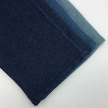 Indigo 100% cotton stretch twill fabric for garment