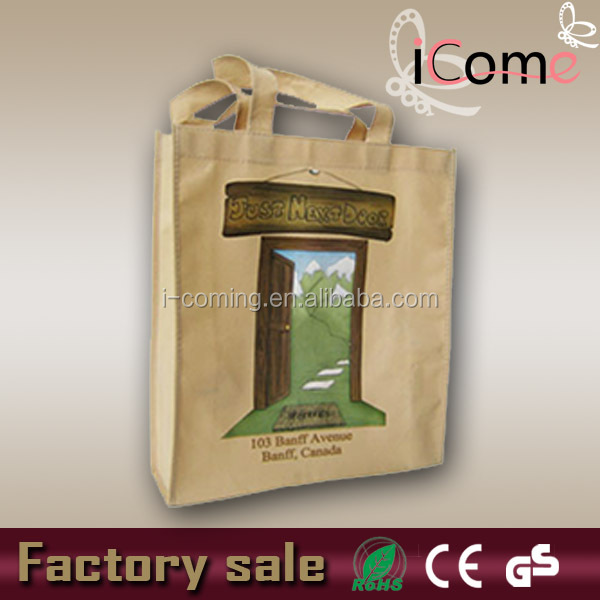 Custom photo printed tote shopping bags(ITEM NO:N150581)