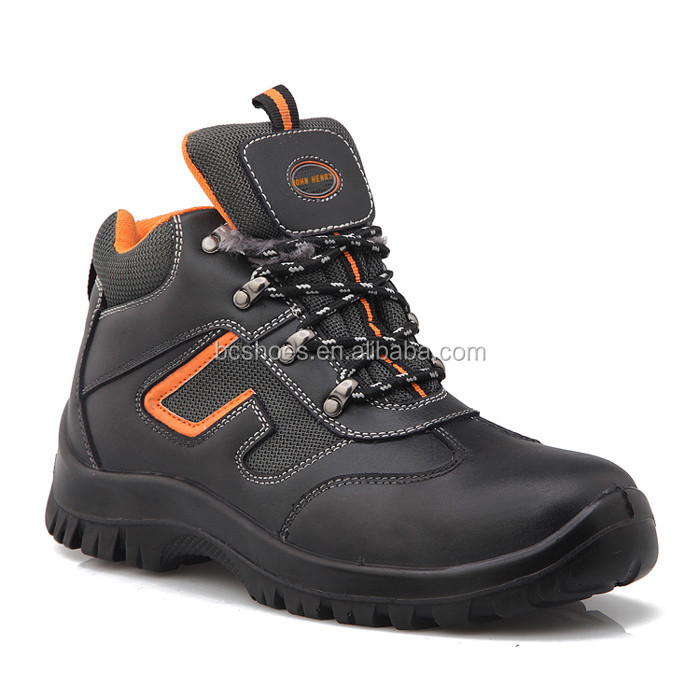 sports working safety shoes with good quality leather.