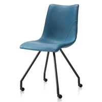 Sell Synthetic Leather Painted Frame Dining Chair or Office Chair With Roller
