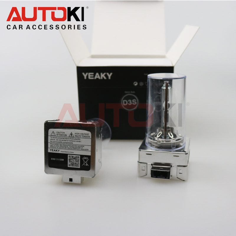 AUTOKI YEAKY 50% brighter 3 years warranty 35w metal base d3s hid xenon bulbs