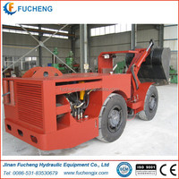 FCYJ-0.75E china made underground mining articulated hydraulic 4x4 wheel drive trackless load haul dump