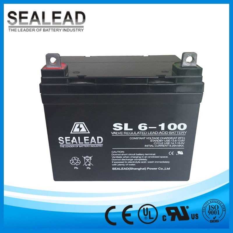 Storage lead acid recharged 6v 100Ah battery