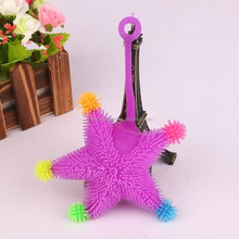 wholesale new fashion Light up starfish spiky puffer ball toys