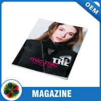 A4 art paper perfect binding fashion glossy clothing magazine printing