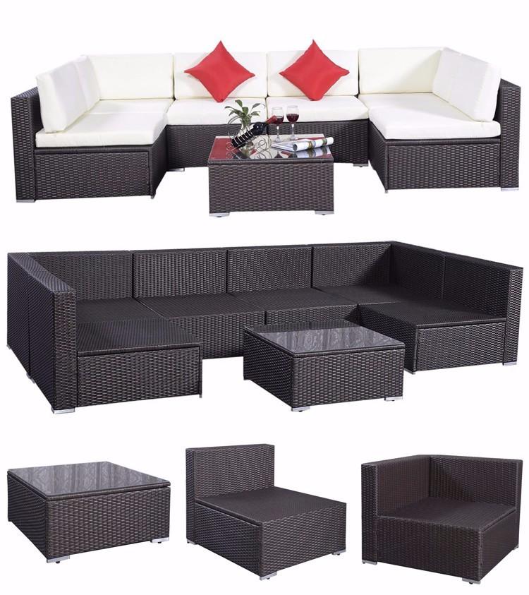 U type leisure indoor rattan plastic sectional sofa - Sofa para jardin ...
