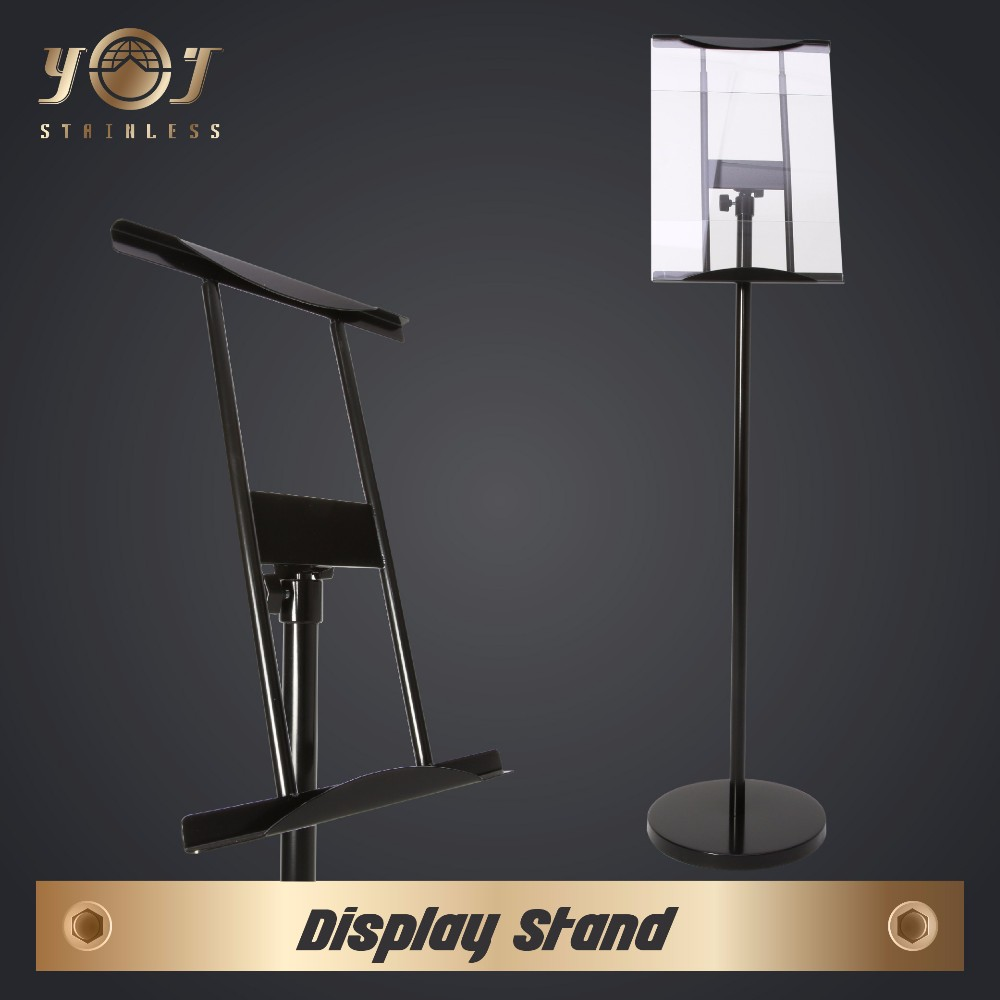 outdoor stainless steel stand up display board advertising shopping mall display stand