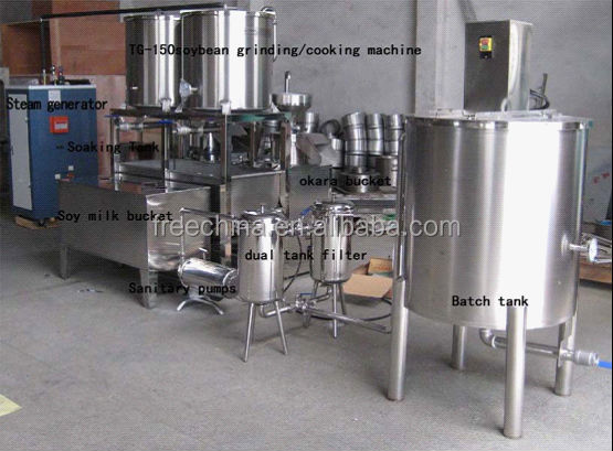 high efficiency soybean milk production line/Soy Milk Processing Machine/ Soybean Milk Processing Machine
