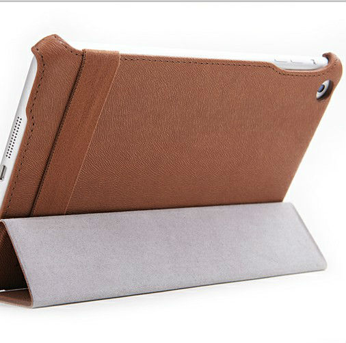 Fashion design new arrival leather stand case cover for iPad mini high-grade case
