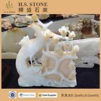 Wholesale stone statue natural onyx flower sculpture