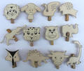 Wooden Pegs with animals shapes