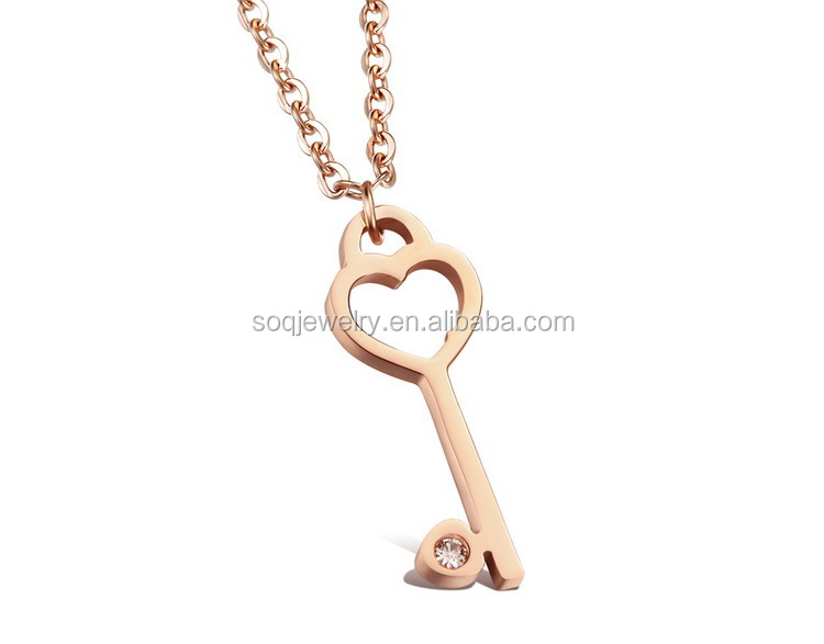 New Arrival Stainless Steel Drop Shape Floating Charm Lockets with Key Charms