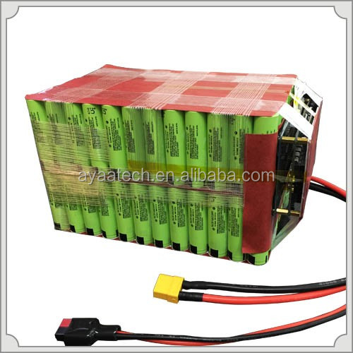 16S12P 59.2V34.8Ah Li-ion portable battery pack for electric bike