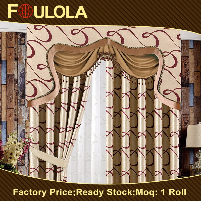 Special Design Widely Used Jacquard Stripe Sheer Curtain