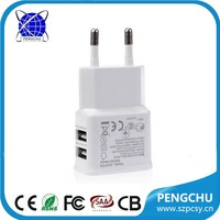 shenzhen top quality 5v 2a dual usb charger adapter
