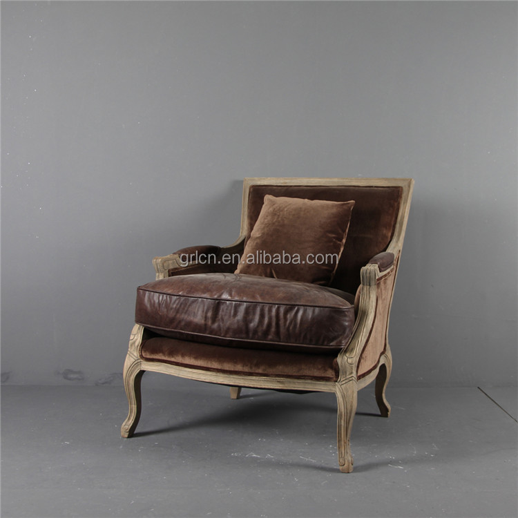 Vintage Style Living Room Chair Armrest Oak Wooden Frame Leather leisure  Chair, View leisure Chair, HYCHIC Product Details from Hangzhou G&L  Furniture Co., ... - Vintage Style Living Room Chair Armrest Oak Wooden Frame Leather
