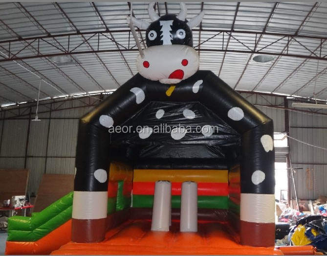 mini inflatable bouncer combo ,cute inflatable bull bounce house used commercial