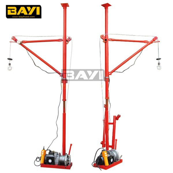 Portable Mobile hoist Mini Crane For Construction Material