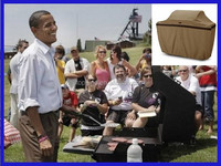 Outdoor BBQ grill cover by Obama