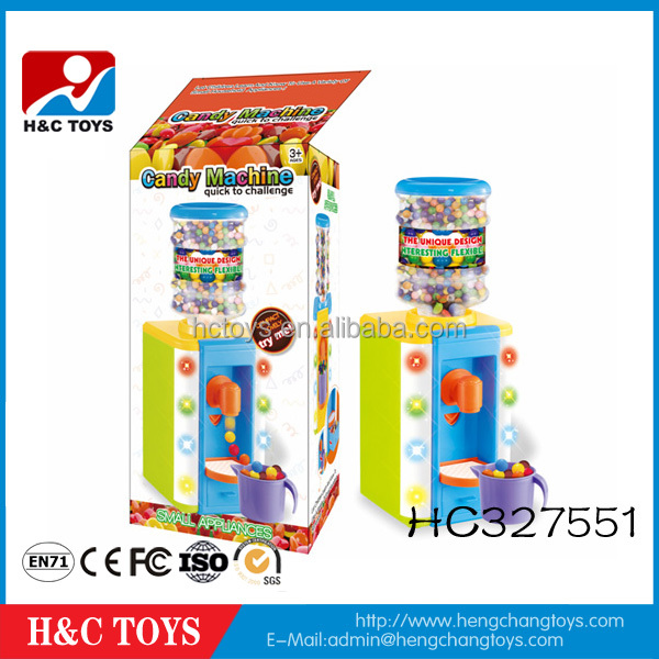 Newest water dispenser design plastic candy machine toy HC327551