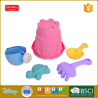 Zhorya kids soft material colorful outdoor mini beach sand castle molds toy