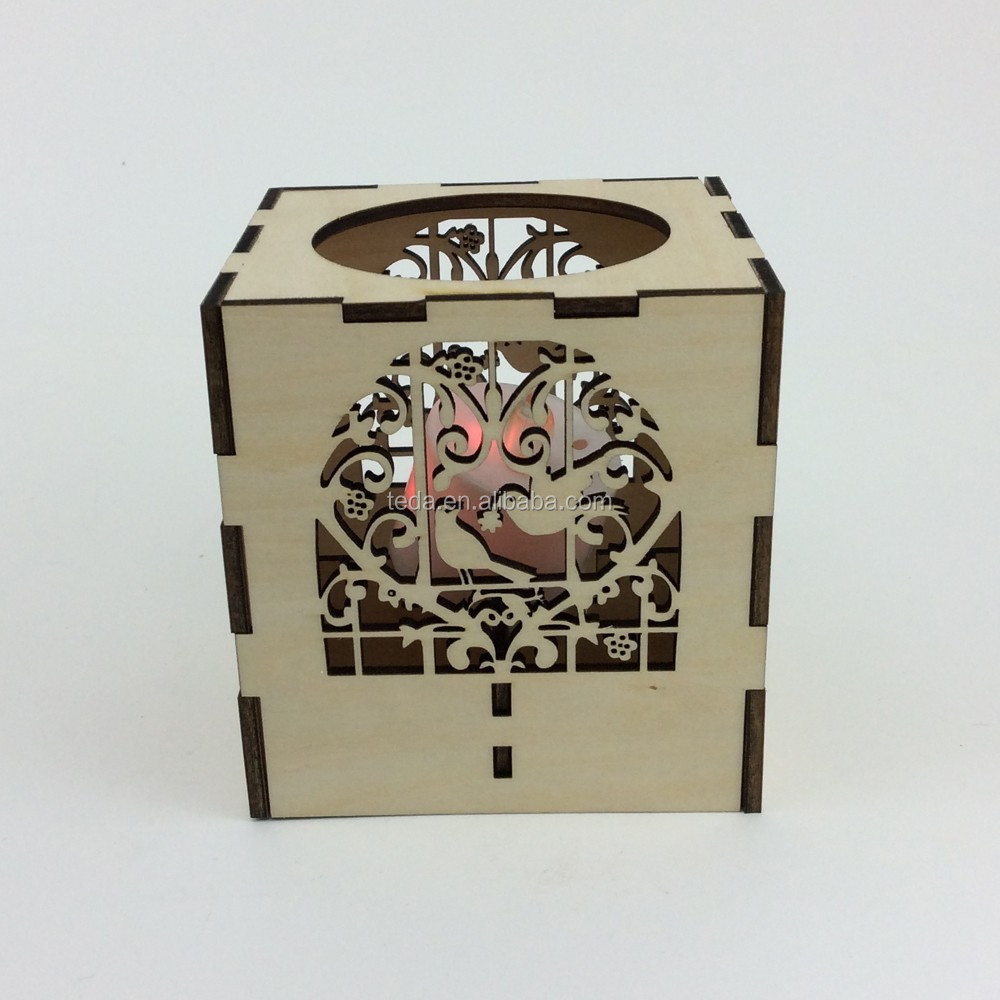 Laser Cut Love Birds Candle Holders