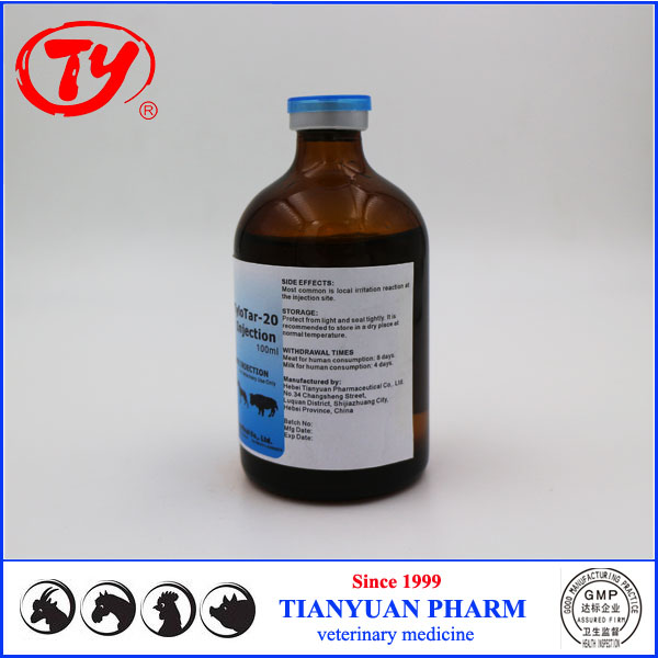Veterinary Antibiotics injectable Tylosin Tartrate Injection 20% Veterinary Medicines