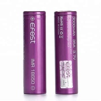 Efest 3000mah 18650 Battery 35a, Big Capacity Accu Genuine Battery, Efest 18650 3000mAh 3.7V Battery