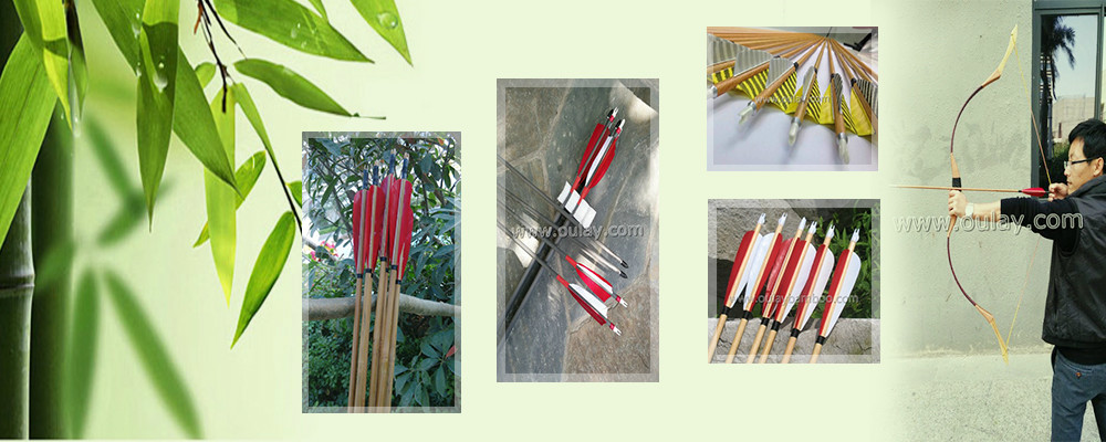 New wooden arrow shafts with 8mm inserts /adapters using different broadheads