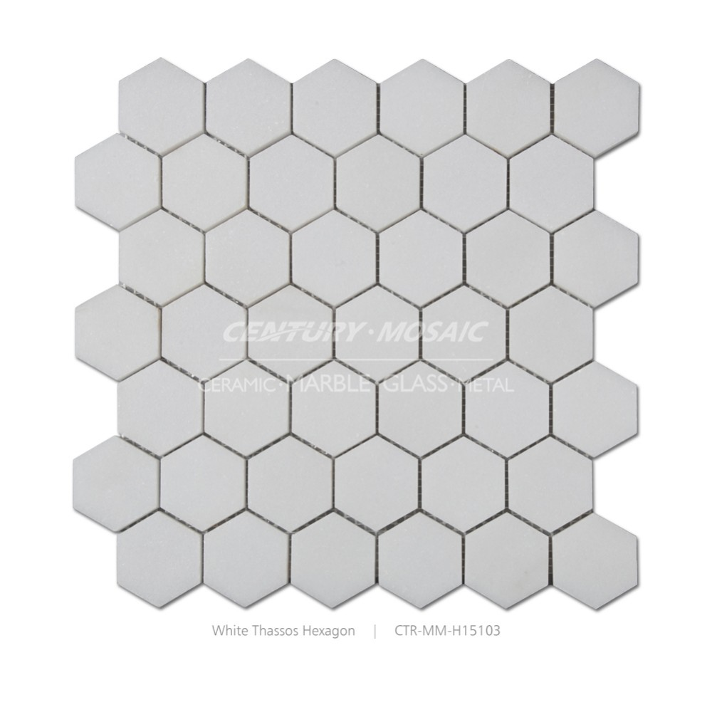 white thassos hexagon marble mosaic bathroom wall tile standard tile ...