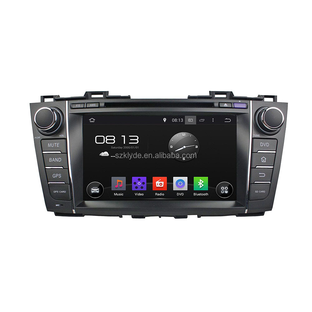 Double din car dvd player with gps navigation for Mazada 5/Premacy 2009-2012
