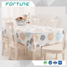 Water Soluble 0.08mm-0.50mm Plastic Printed PVC Table Cloth