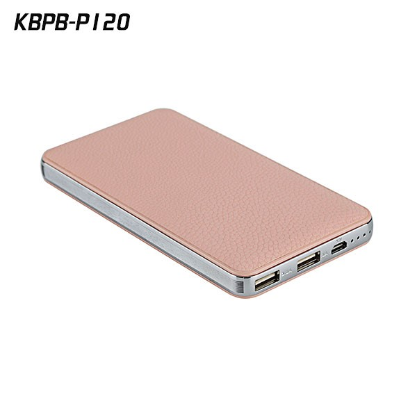 OEM ODM factory 12000mAh universal power bank skin leather for smartphone
