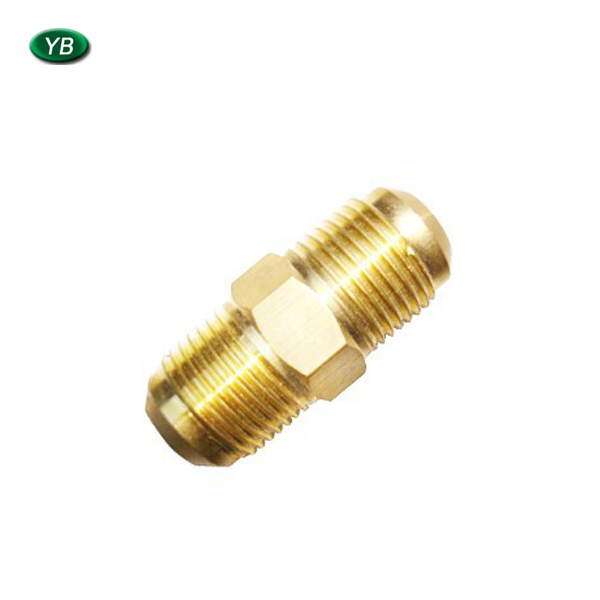 2017 customized metal CNC turning solid joint, thread shaft in brass for structural connection use