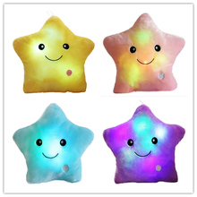 Wholesale Creative Twinkle Star Glowing LED Night Light Pillows Stuffed Plush Toys